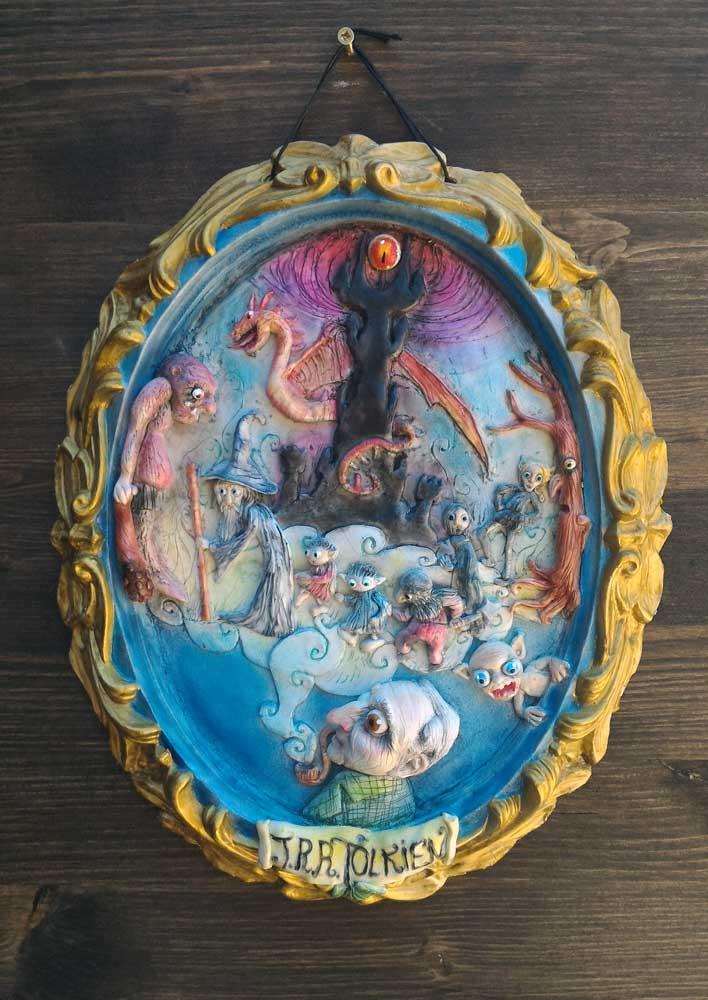 """blog Omaggio a J.R.R. Tolkien visionario autore del """"Signore degli Anelli"""" cagliostrino fantasy quadri 3d signore degli anelli tolkien"""