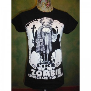 "T-shirt T-shirt Conte Ugolicchio ""Like a Zombie, Risorgere con Stile"""