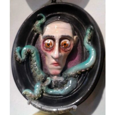 H.P. Lovecraft con tentacoli Cthulhu Quadro 3D