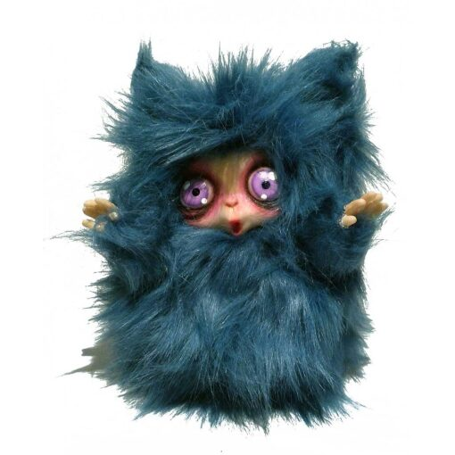 Peluche MicioMicio il Folletto che si traveste da gatto blu con occhi viola