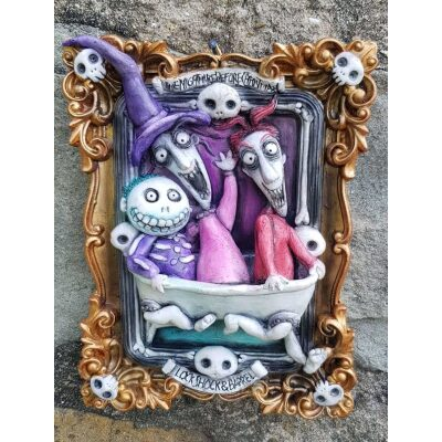 Tim Burton Lock Shock Barrel Quadro 3D (Nightmare Before Christmas)