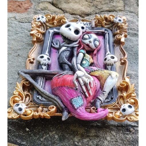 Tim Burton Jack & Sally Quadro 3D (Nightmare Before Christmas)