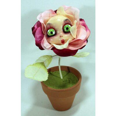 Fiore Mangia-Cattivi-Pensieri Rosa chiaro con viso dolce.