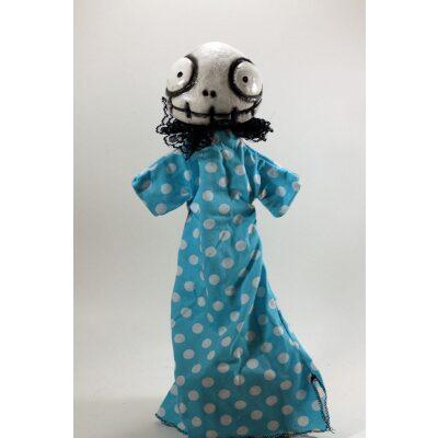 burattini Burattino Teschietto stile Jack Skeletron di Tim Burton con vestito pois