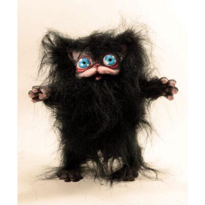 Peluche Peluche del gatto nero Cagliostrino con occhi azzurri