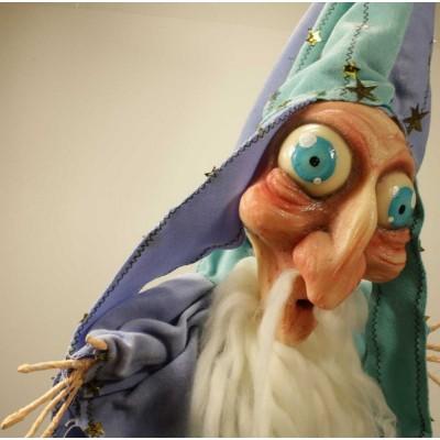 burattini Fantasy Puppet: Burattino Mago Ceruleo dal manto stellato