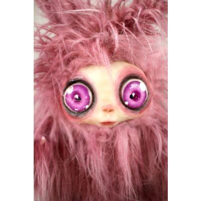 burattini Burattino MicioMicio Rosa con occhi rosa