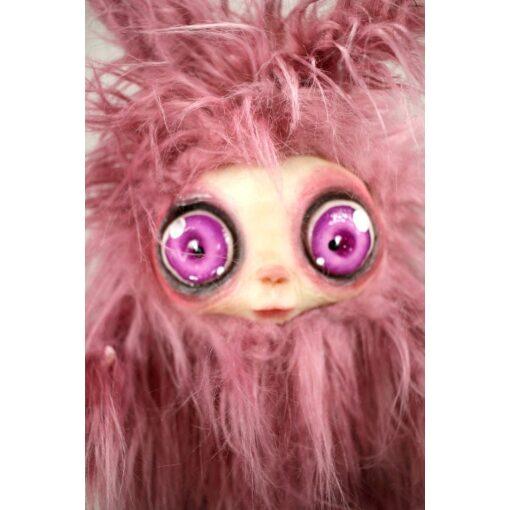 Burattino MicioMicio Rosa con occhi rosa
