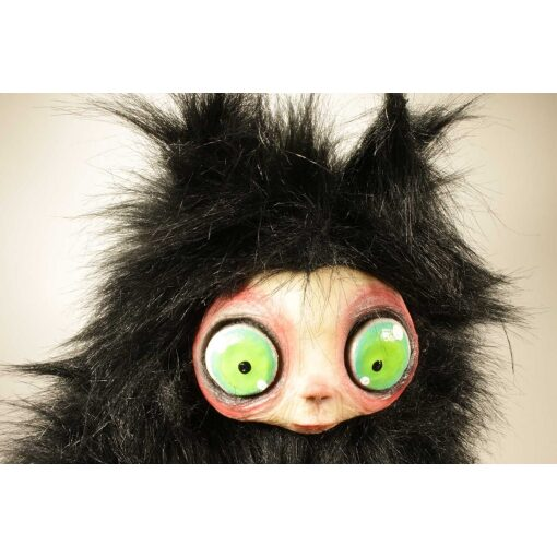 Burattino MicioMicio Nero con occhi verdi