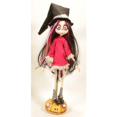 Dolls Handmade Gothic Doll: Bambola Streghetta capelli Multicolor