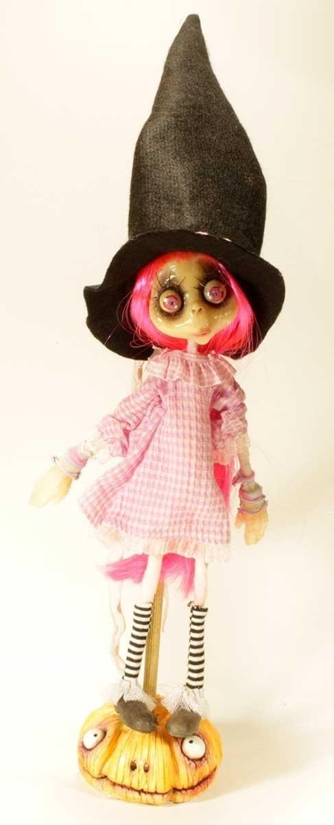 Gothic Doll: Bambola Streghetta capelli rosa