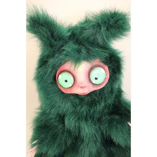 Burattino MicioMicio Verde con occhi verdi