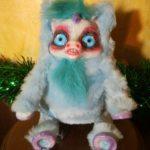 Peluche Gatto Nero Cagliostrino occhi azzurri e  pelo liscio