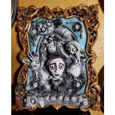 Lewis Carroll e Alice nel Paese delle Meraviglie Quadro 3D