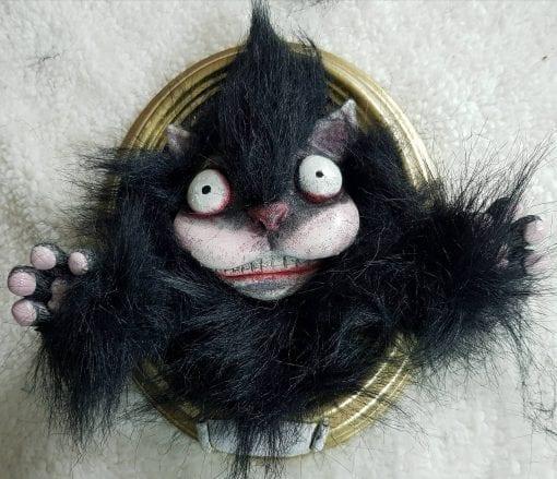Quadro 3D del Gatto Nero