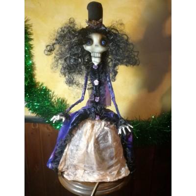 Bambola Lampada Donna Teschio
