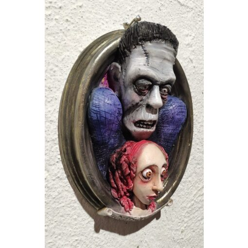 Mary Shelley e Frankenstein Quadro 3D