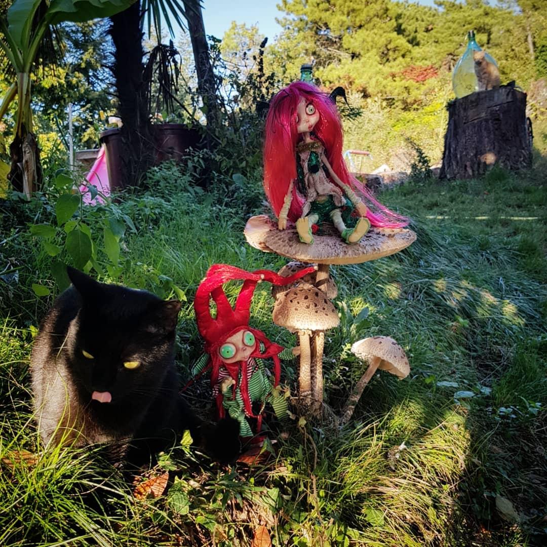 cagliostrino  Magico autunno               ... autunno casacagliostrino elf fairy fairydoll fantasyartist fantasycreature folletto funghi mushroom resinart resinartist resincraft resindoll